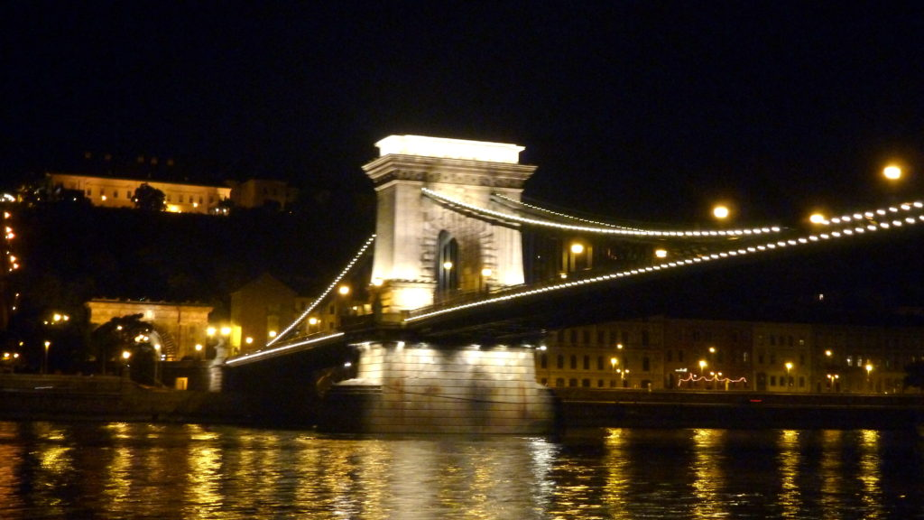 Chain Bridge under the night sky