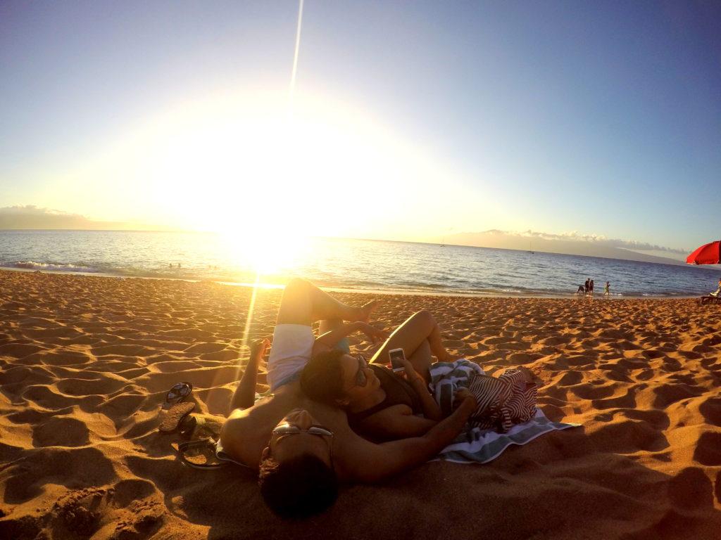 Unwinding by the ocean!